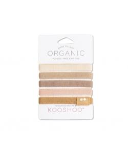 Экологические резинки для волос KOOSHOO (нюд), 5 шт