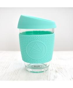 Скляна чашка для напоїв Neon Kactus, бірюзова