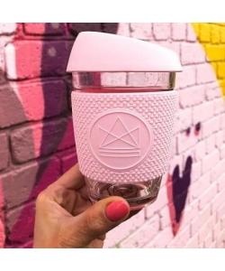 Скляна чашка Neon Kactus, рожева пудрова
