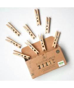 Бамбуковые прищепки для сушки белья Go Bamboo