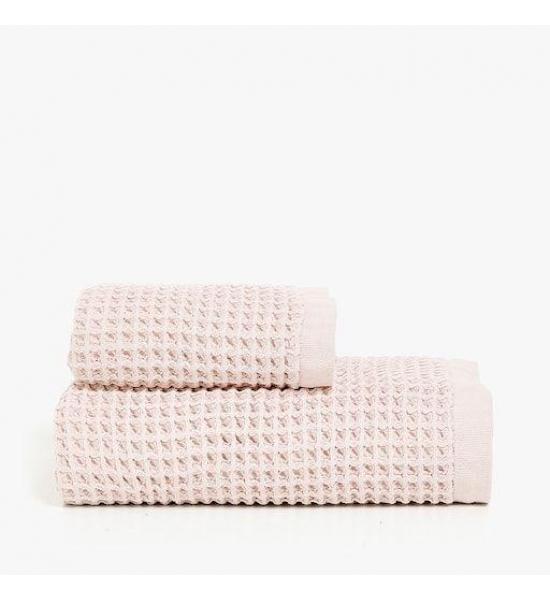 Вафельное полотенце для лица Zara home, розовый