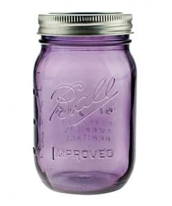 Скляна банка мейсон 0,5 л Ball, колір Purple
