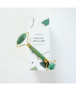 Кварцевый роллер для массажа лица Зеленый авантюрин, Slow North