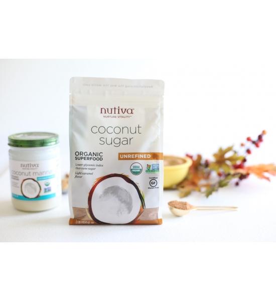 Органічний кокосовий цукор Nutiva, 454 г