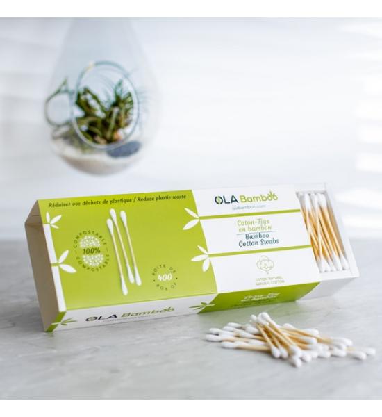 Бамбуковые ушные палочки Ola Bamboo, 400 шт