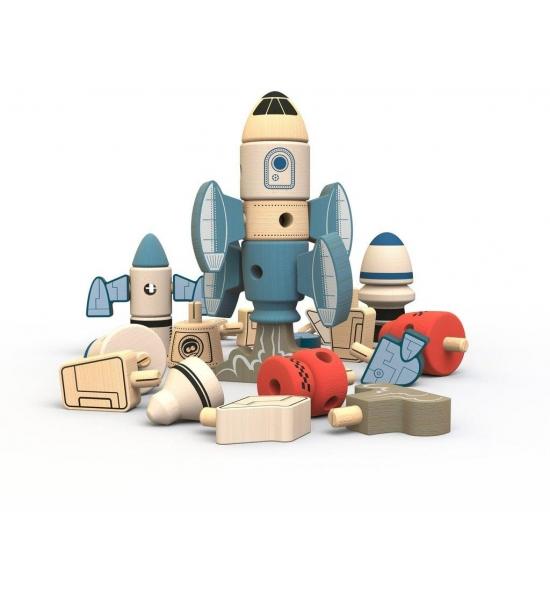 Дерев'яний конструктор Begin Again Toys, ракети