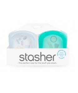 Силіконові кишенькові органайзери Stasher, pockets bags set, 2 шт