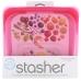 Силіконовий харчовий контейнер Stasher, sandwich bag 450 мл, колір Raspberry