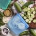 Силіконовий харчовий контейнер Stasher, sandwich bag 450 мл, колір Topaz