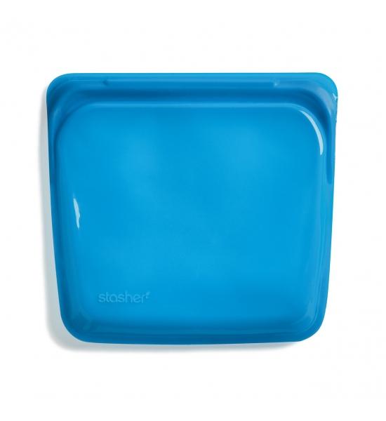 Силиконовый пищевой контейнер Stasher, sandwich bag 450 мл, цвет Blueberry