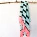 Традиційний турецький рушник фута Aqua-black-floresc.pink, Wonderfouta