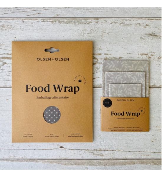 Вощеные салфетки для продуктов, посуды в узор Olsen + Olsen