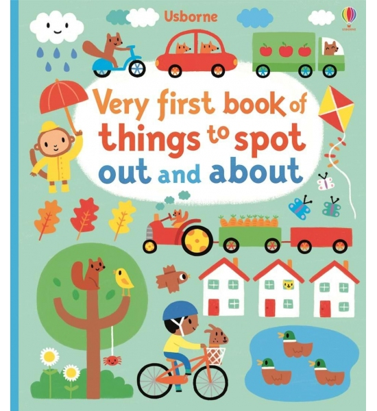 Книга Very first book of things to spot out and about, Usborne