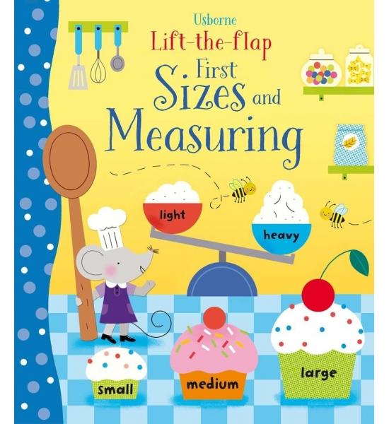 Книга з віконечками Lift-the-flap first sizes and measuring, Usborne