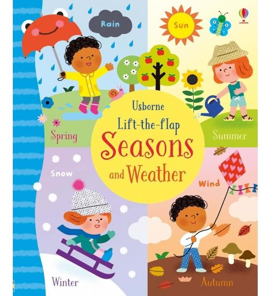 Книга з віконечками Lift-the-flap seasons and weather, Usborne