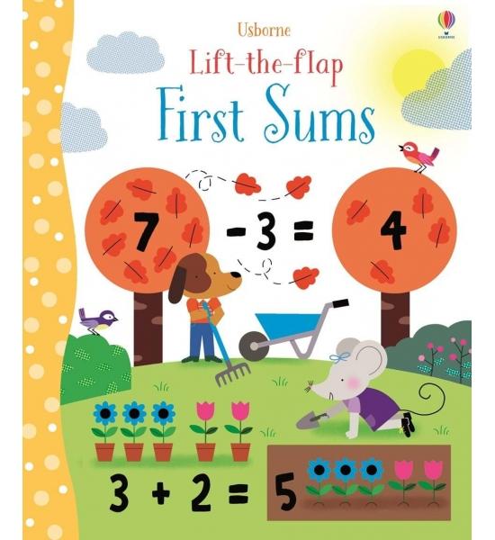 Книга з віконечками Lift-the-flap first sums, Usborne