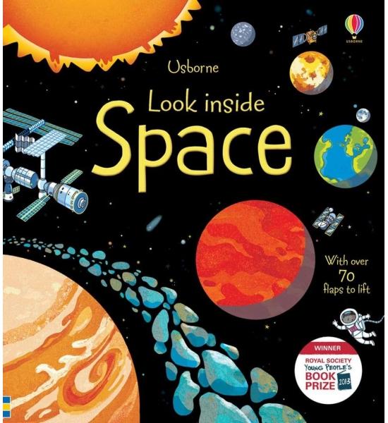 Книга з віконечками Look inside space, Usborne