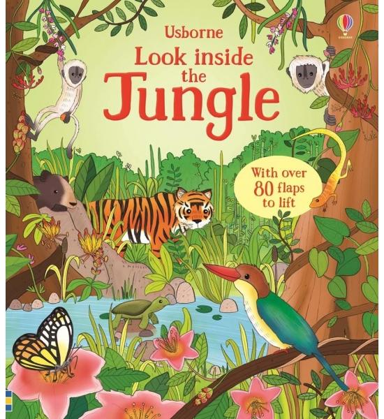 Книга з віконечками Look inside the jungle, Usborne