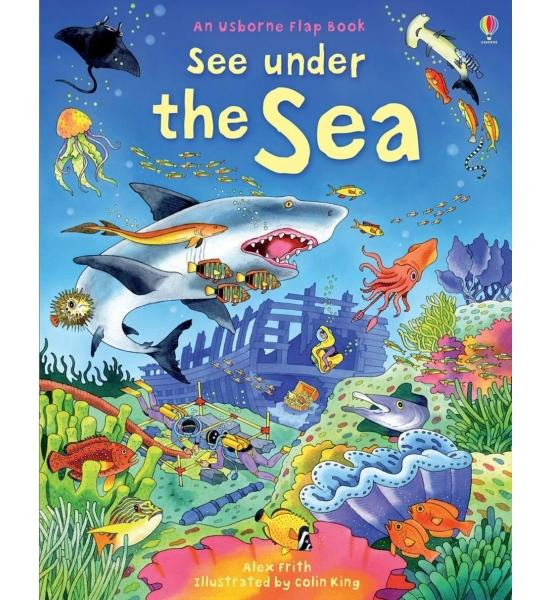 Книга з віконечками See under the sea, Usborne