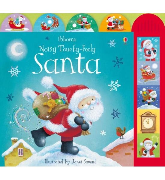 Музична книжка Noisy Touchy-feely Santa, Usborne
