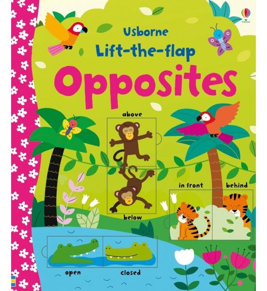 Книга з віконечками Lift-the-flap Opposites, Usborne