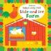 Книга Baby's Very First Slide and See Farm, Usborne