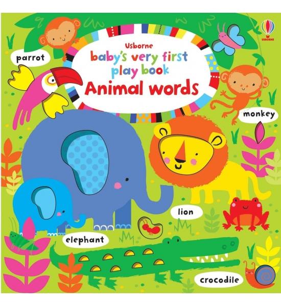 Книга Baby's Very First Play Book Animal words, Usborne