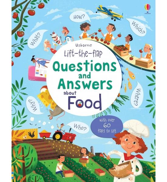 Книга з віконечками Lift-the-flap Questions and Answers about Food, Usborne