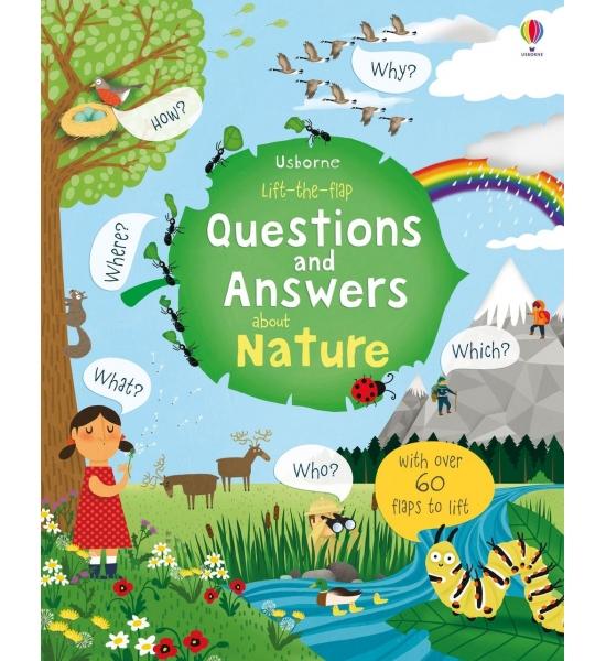 Книга з віконечками Lift-the-flap Questions and Answers about Nature, Usborne