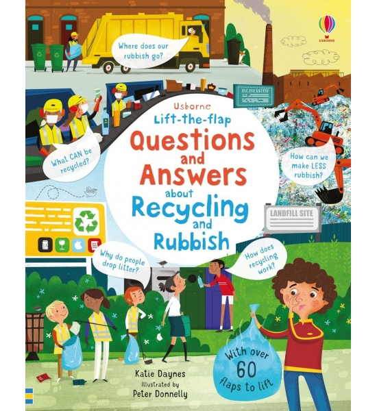 Книга з віконечками Lift-the-flap Questions and Answers About Recycling and Rubbish, Usborne