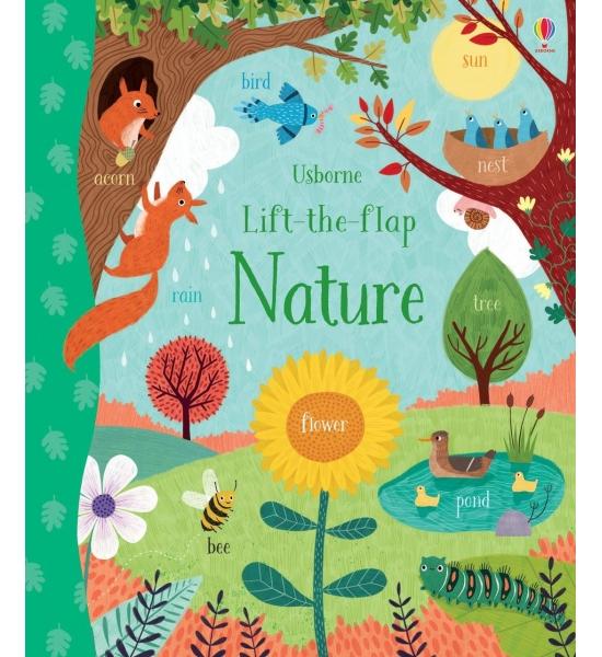 Книга з віконечками Lift the Flap Nature, Usborne