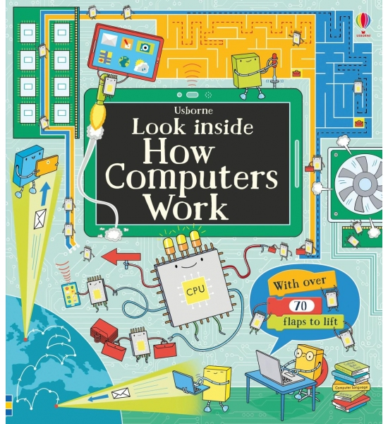 Книга з віконечками Look Inside How Computers Work, Usborne