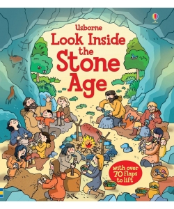 Книга з віконечками Look Inside the Stone Age, Usborne