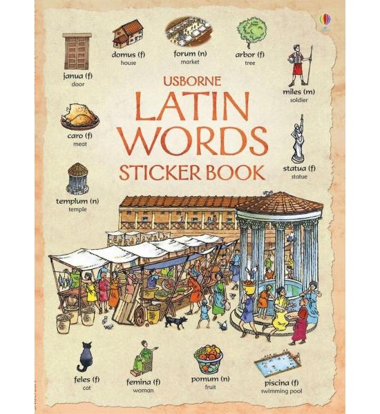 Книга Latin Words Sticker Book, Usborne