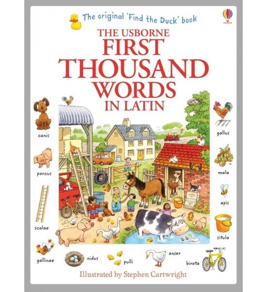 Книга First Thousand Words in Latin, Usborne