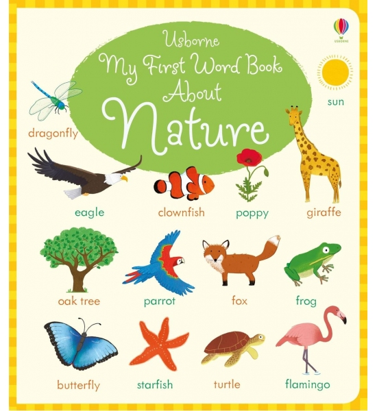 Книга My First Word Book About Nature, Usborne