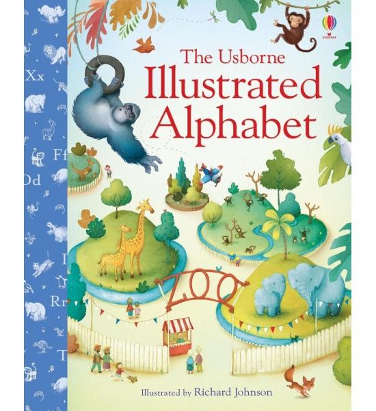 Книга Illustrated Alphabet, Usborne