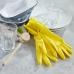 Желтые резиновые хозяйственные перчатки размер S, Eco Living