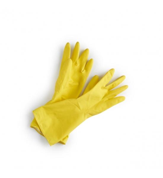 Жёлтые резиновые хозяйственные перчатки Ecoliving, размер M