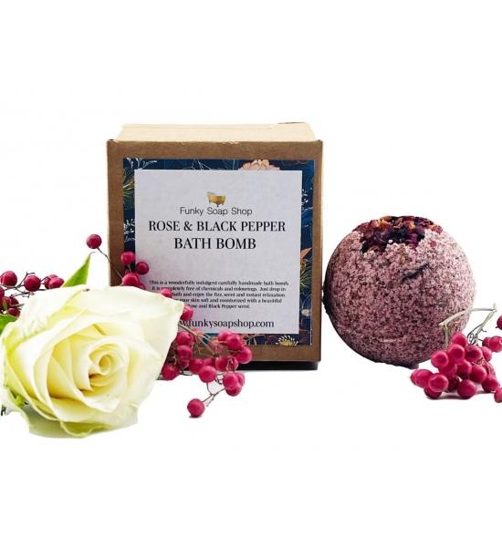 Бомбочка для ванны Funky Soap, роза и черный перец