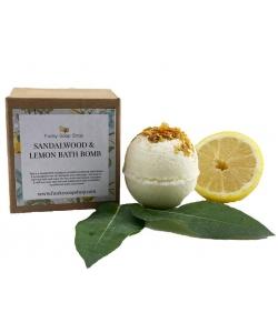 Бомбочка для ванны Funky Soap, Сандаловое дерево и лимон