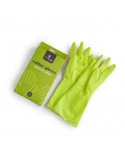 Зеленые резиновые хозяйственные перчатки размер M, Eco Living