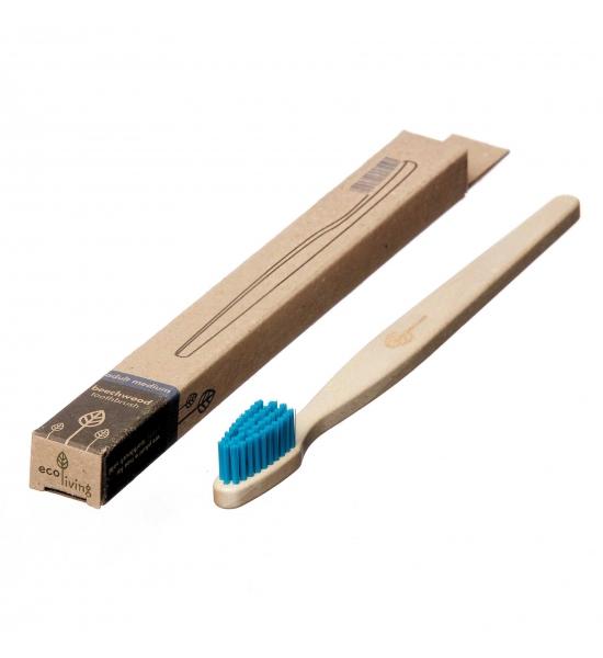 Буковая зубная щётка Eco Living, голубая