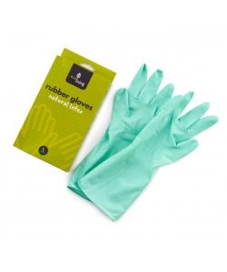 Зеленые резиновые хозяйственные перчатки размер L, Eco Living