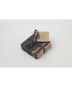Подставки под горячее из сланца, 4 шт Copper Leaf Coasters, Slated